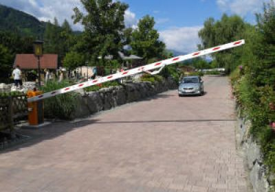 Barrier control by number plate identification with new Pollux at a campsite in the province of Salzburg