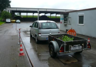 Number plate recognition in composting system
